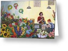 Pikes' Flower Market Greeting Card