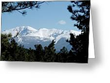 Pikes Peak After A Snowstorm Greeting Card