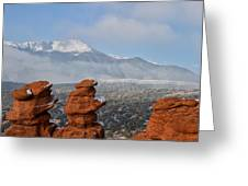 Pikes Peak In The Clouds Greeting Card