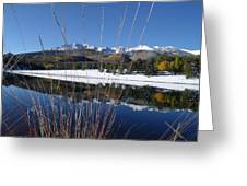 Pikes Peak Through The Grass Greeting Card