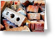 Pile Of Bricks Greeting Card