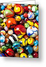 Pile Of Marbles Greeting Card