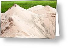 Pile Of Sand Greeting Card