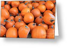 Piles Of Pumpkins Greeting Card