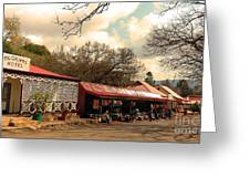 Pilgrims Hotel And Stalls Greeting Card
