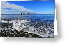 Pilings In The Ocean Greeting Card