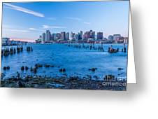Pilings On Boston Harbor Greeting Card