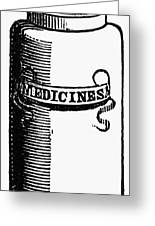 Pill Bottle, 19th Century Greeting Card