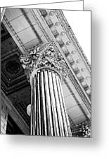 Pillar Of Finance  Greeting Card by Cathie Tyler