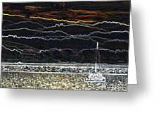 Pillar Point Harbor Below Half Moon Bay Hills Greeting Card