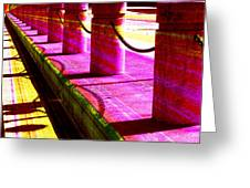 Pillars And Chains - Color Rays Greeting Card