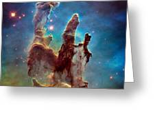 Pillars Of Creation In High Definition - Eagle Nebula Greeting Card