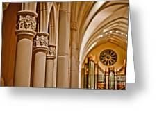 Pillars Of Faith Greeting Card