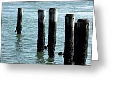 Pillars Of The Sea Greeting Card
