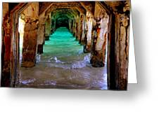 Pillars Of Time Greeting Card