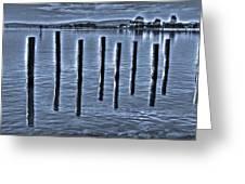 pillars on the Bay Greeting Card