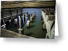 Pillars Over Pier 39 Waters... Greeting Card