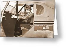 Pilot Amelia Earhart 1936 Greeting Card