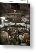 Pilot - Boeing 707  - Cockpit - We Need A Pilot Or Two Greeting Card
