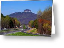 Pilot Mountain From Overlook Greeting Card