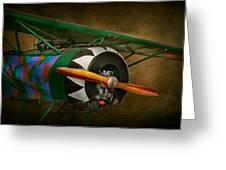 Pilot - Plane - German Ww1 Fighter - Fokker D Viii Greeting Card by Mike Savad