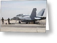 Pilots Wait To Board Their Fa-18b Greeting Card