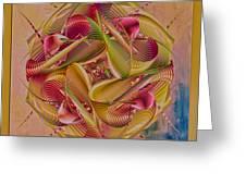 Pin Stripe City Greeting Card by Deborah Benoit