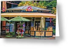 Pin Traders Downtown Disneyland 02 Greeting Card
