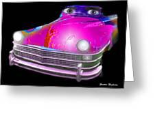 Pin Up Cars - #1 Greeting Card by Gunter Nezhoda