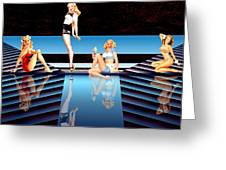 Pin Up Girls By 4 Greeting Card