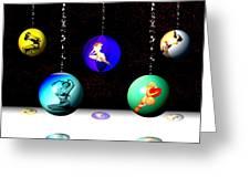 Pin Up Ornaments Greeting Card