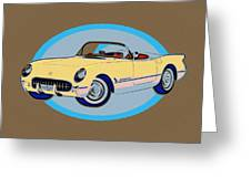 Pin Up Vette Greeting Card