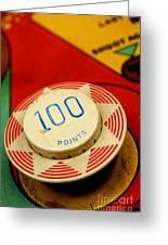 Pinball Machine Greeting Card