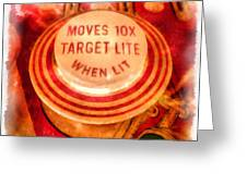 Pinball Machine Watercolor Greeting Card