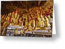 Pindaya Cave With More Than 8000 Buddha Statues Myanmar Greeting Card