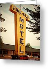 Pine Glo Motel Greeting Card