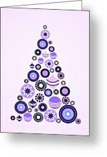 Pine Tree Ornaments - Purple Greeting Card