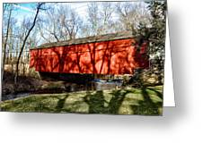 Pine Valley Covered Bridge In Bucks County Pa Greeting Card