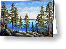 Pine Woods Lake Tahoe Greeting Card