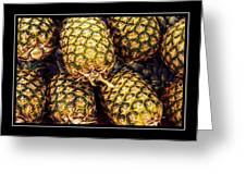 Pineapple Color Greeting Card