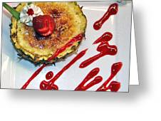 Pineapple Creme Brulee Maui Style Greeting Card