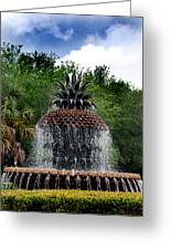 Pineapple Fountain Greeting Card by Skip Willits