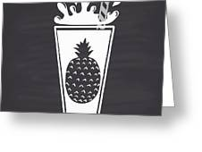 Pineapple Juice Drawn In Chalk In A Greeting Card