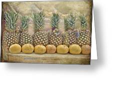 Pineapples And Grapefruit Greeting Card