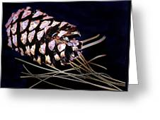 Pinecone In Black Greeting Card