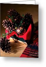 Pinecones Christmasbox Greeting Card