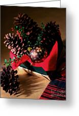 Pinecones Christmasbox Painted Greeting Card