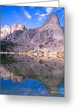 Pingora Peak On Lonesome Lake Greeting Card