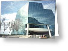 Pinhole Office Building Greeting Card