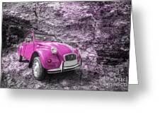Pink 2cv  Greeting Card